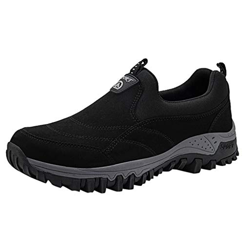 iHPH7 Shoes Trail Running New Shoes Mesh Shoes Leisure Sports Shoes are Breathable in Summer Shoe Men's (39,Black)]()