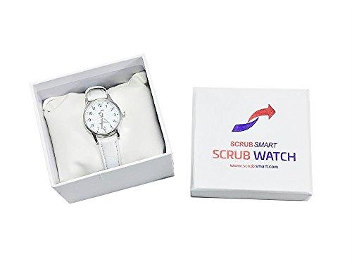 Scrub Smart Basics Ladies Watch for Nurses - White SW-W-130 (Small)