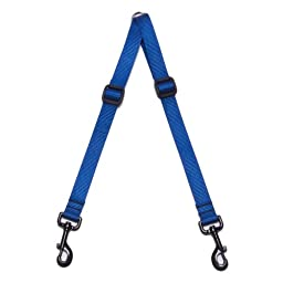 Max & Zoey 1-Inch Wide Walking Coupler, Small, Royal Blue