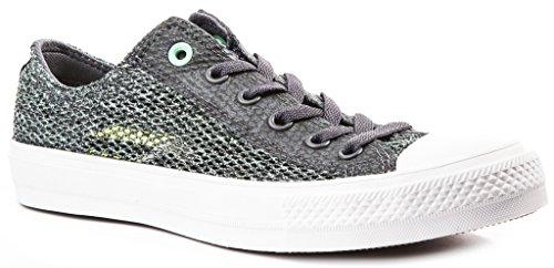 Converse Chuck II Open Knit Herren Sneakers Sharkskin/Green Glow 42.5