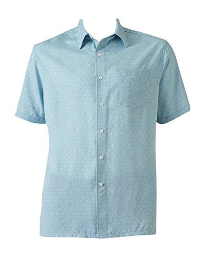 Barrow Island (Croft & Barrow Men's Classic-Fit Island Microfiber Button-Down Shirt (XXL, Blue Sand Dollar))