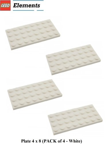 lego building plate white - 8