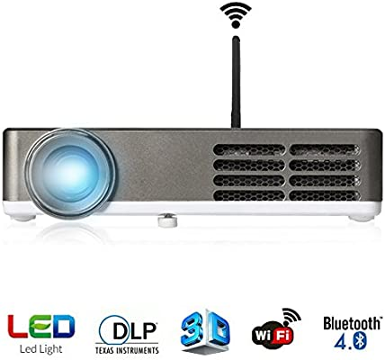 ERISAN vídeo proyector (garantía Incluido), 1200 lúmenes, a Todo ...
