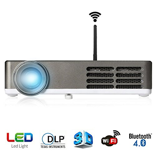 ERISAN Video Projector (Warranty Included), 1200 Lumens Full Color , Mini LED Multimedia Home Theater Projector, Max 120″ Screen Optical Keystone USB/AV/SD/HDMI/VGA Interface
