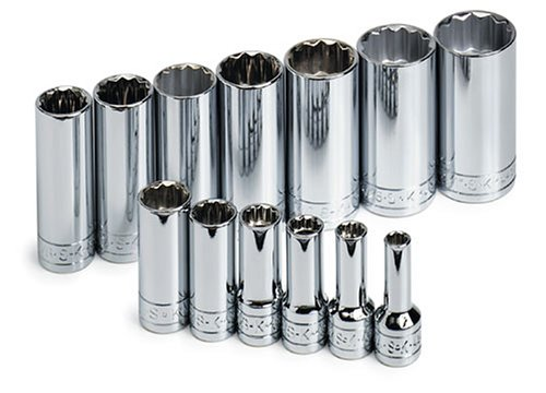 SK 4453 13 Piece 3/8-Inch Drive 12 Point Deep 1/4-Inch to 1-Inch Standard Socket Set ()