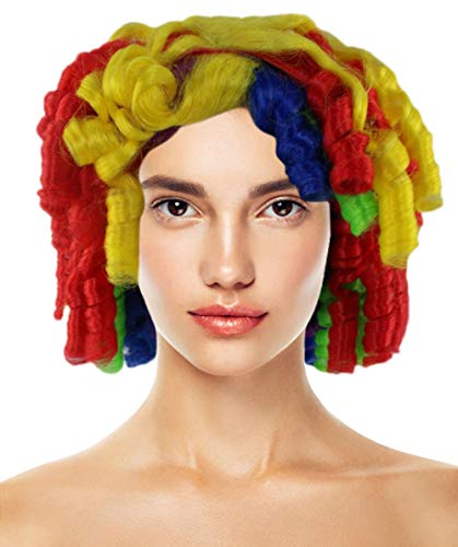 Colorful Cutie Pie Curly Clown Wig |