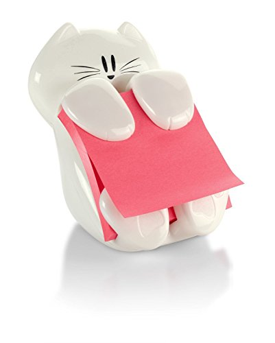 Design 3m Fun - Post-it Pop-up Note Dispenser, Cat design, 3 in x 3 in , 1 Dispenser/Pack (CAT-330)