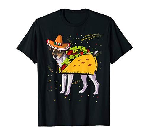 Rat Terrier Dog in Sombrero Mexico Party T -