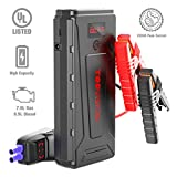 Battery Starter for Car, TOPVISION 2200A Peak 21800mAh Portable Car Power Pack with USB Quick Charge 3.0 (Up to 7.0L Gas or 6.5L Diesel Engine), 12V Portable Auto Battery Booster
