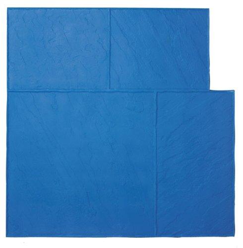 BonWay 32152 36Inch by 36Inch Ashlar Stone Elephant Urethane Texture Mat for Decorative Concrete Blue