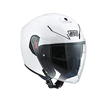 AGV K-5 Casco JET E2205 Top, color Blanco, talla 6