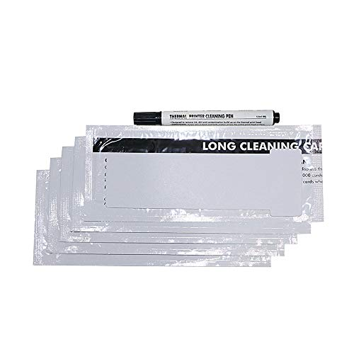 CK1 Cleaning Kit for Pronto, Opera, Alto and Tempo Card Printers, Pack of 5 Cleaning Cards and 1Cleaning Pen.