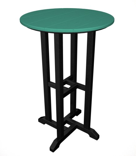 Contempo Round Counter Bar Table Finish: Black Frame / Slate Grey