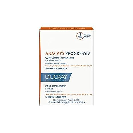 Ducray Anacaps Progressiv Situaciones Crónicas Hombes y Mujeres, 3x30cápsulas: Amazon.es: Belleza