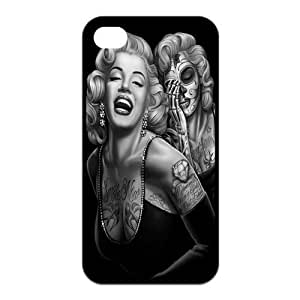 Mystic Zone Zombie Marilyn Monroe iPhone 4 Case for iPhone 4/4S Cover Fits Case KEK1281