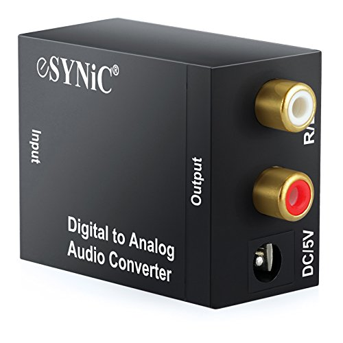 eSynic DAC Digital Optical Coaxial Toslink to Analog Stereo RCA Audio Converter: Amazon.es: Electrónica