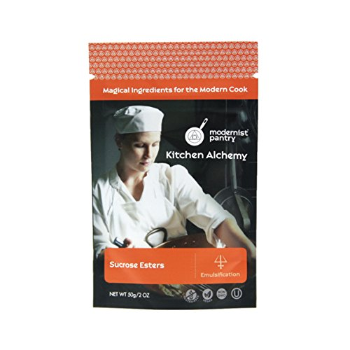 Food Grade Sucrose Esters (Molecular Gastronomy) ⊘ Non-GMO ☮ Vegan ✡ OU Kosher Certified - 50g/2oz by Modernist Pantry