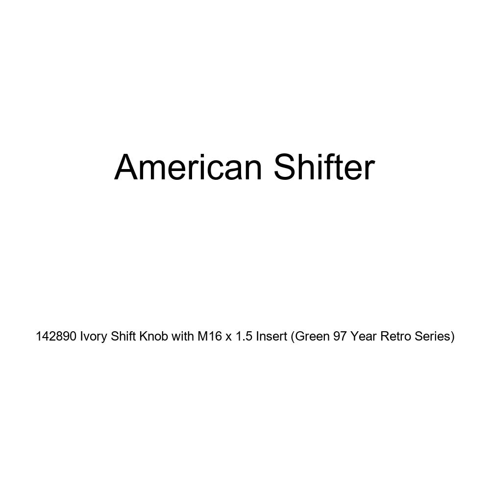 American Shifter 142890 Ivory Shift Knob with M16 x 1.5 Insert Green 97 Year Retro Series