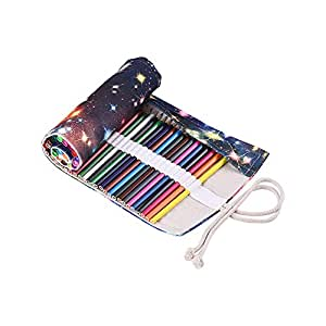Canvas Pencil Roll Pouch Case Bag Wrap Holder Storage 36 Holes for Artist