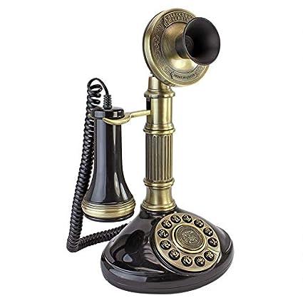 Antique Phone , Roman Column 1897 Candlestick Rotary Telephone , Corded  Retro Phone , Vintage Decorative Telephones