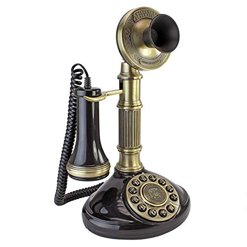 Design Toscano Antique Phone - Roman Column 1897 Candlestick Rotary Telephone - Corded Retro Phone - Vintage Decorative Telephones (Antique Replica Phone)