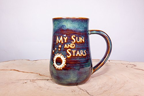 Game of Thrones My Sun and Stars Handmade Coffee Pottery Mug (Through Sand Pottery White)