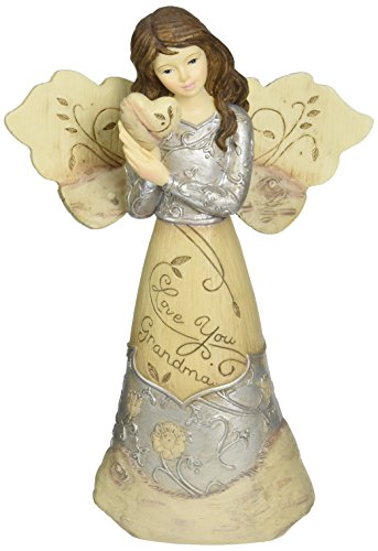 Elements Love You Grandma Angel Figurine by Pavilion, Holding Heart, - Holding Figurine Heart
