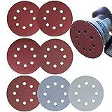 Aewio 60 Pcs 5 inch 8 Holes #1000 - #7000 Sanding Discs 1000 1200 1500 2000 3000 (Each Grit 10 Pcs) + Wet Dry Sandpaper 5000 7000 (Each Grit 5 Pcs) for Random Orbital Sanders