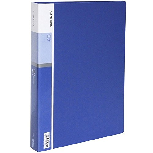 MyLifeUNIT 60-Pocket Business A4 Sheet Presentation Book, 120-Page Capacity for A4 and Letter Size Inserts (Blue)
