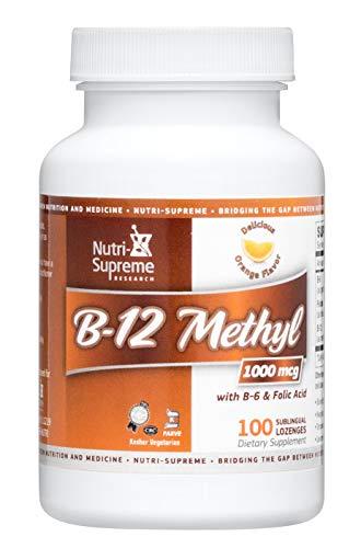 Nutri-Supreme Research Kosher B12 Lozenge (Methyl) W/ B6- Folic Acid and Biotin 100 -
