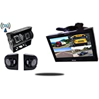 Tadibrothers 7 Inch Wireless Ultimate RV Backup Camera System with Double CCD RV Camera and Premium Side Cameras