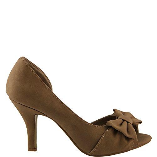 Unbekannt - Zapatos con tacón Mujer - caqui