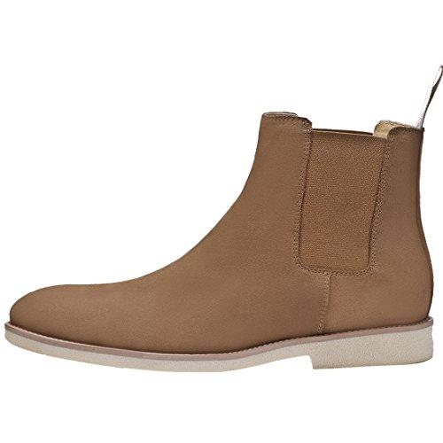 Chelsea Botas Para Hombre Vestido Suede Casual Puntiagudo Arranque Negocios Al Aire Libre Tobillo-botas Altas 3 Colores Marrón