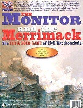 Chatham Hill Games The Monitor and The Merrimack, a Cut & Fold Game of [American] Civil War Ironclads, Introductory Boardgame, 2nd Edition