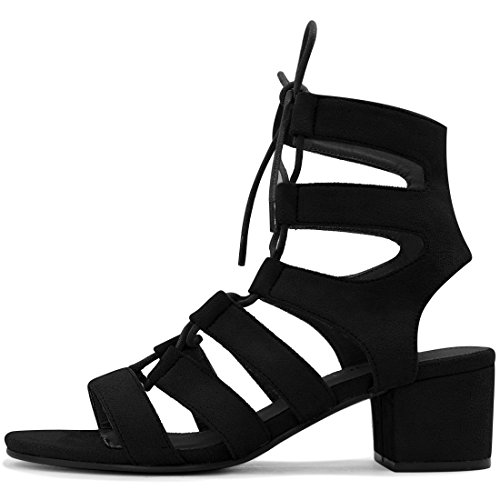 Black up Lace Femme Découpe Allegra Talon Toe Ouvert K Sandals Tqnxvfz