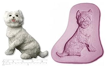Molde de silicona para figuras de azúcar, diseño de perro escocés: Amazon.es: Hogar