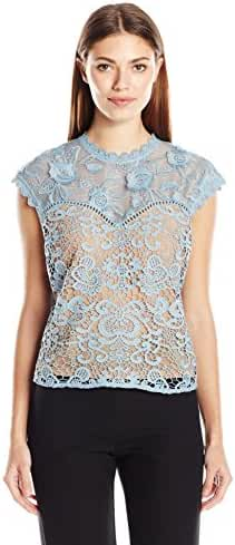 Plenty by Tracy Reese Women's Lace Combo Top