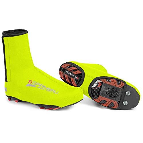 Bike Shoe Cover - Louis Garneau - Neo Protect 2 Insulated Neoprene Cycling Shoe Covers, Bright Yellow, Large