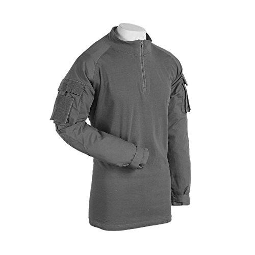 - VooDoo Tactical 01-9582014097 Combat Shirt with Zipper, Gray, 2XL