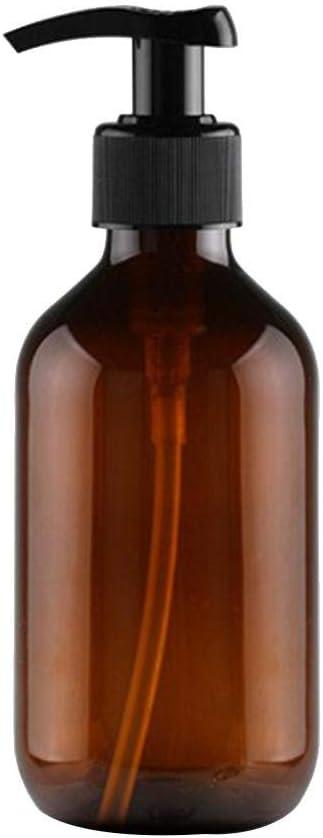 LAAT Botella de Plástico Redonda Botes dispensador de jabón y loción de 300 ml para dispensar lociones Champús
