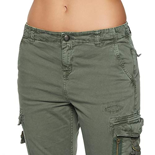 Pantalones Sage Superdry G70001gr Army Mujeres CWWn8q5
