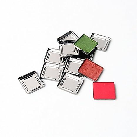 empty Metal hierro sartenes s-265 ajuste comida de pigmento cosméticos sombra de ojos paleta de maquillaje magnético 30 pcs/Pack Nuevo: Amazon.es: Hogar