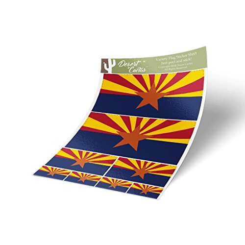 Desert Cactus Arizona AZ State Flag Sticker Decal Variety Si