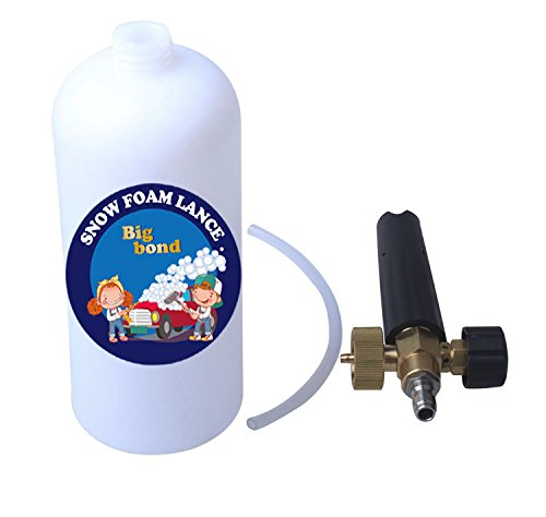 Big bond Car Washing Foam Cannon Adjustable Nozzle 1 Liter Bottle Snow Foam Lance With 1/4'' Quick Connector Foam Blaster for Pressure Washer Gun by Big bond (Image #4)