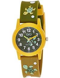 Relógio Masculino Infantil Amarelo e Verde Q&Q Prova D'Água