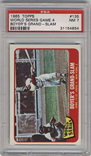 Baseball MLB 1965 Topps #135 World Series Game 4 Boyer's Grand-Slam PSA 7