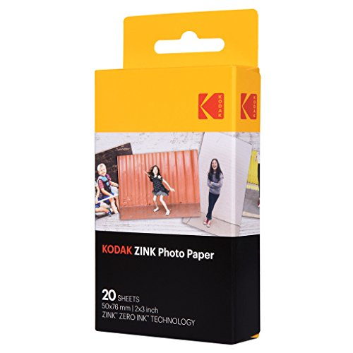 - Kodak 2ʺx3ʺ Premium Zink Photo Paper (20 Sheets) Compatible with KODAK Smile and PRINTOMATIC (NOT with Kodak Mini Shot, Mini2)