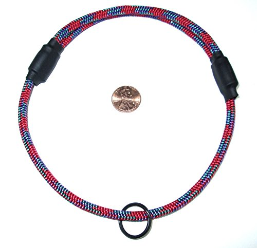 National Leash Thin Mountain Rope Dog ID Collar - Red - Medium Size - The Original Snickers collar