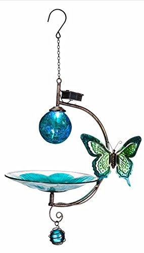 Sunset Vista Designs Butterfly Solar Globe Bird Feeder by Sunset Vista Designs