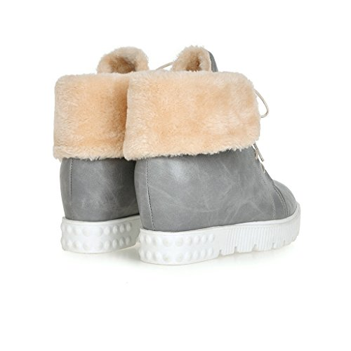 up Snow Dear Lace Grey Women Time Boots Ankle 4trtTq
